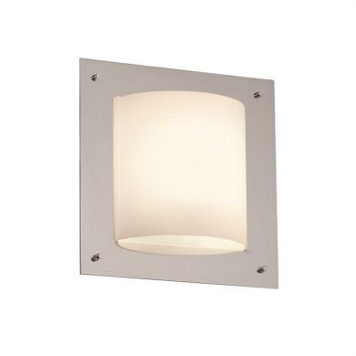 Justice Design FSN Fusion W LED Square Sided - Square bathroom sconce