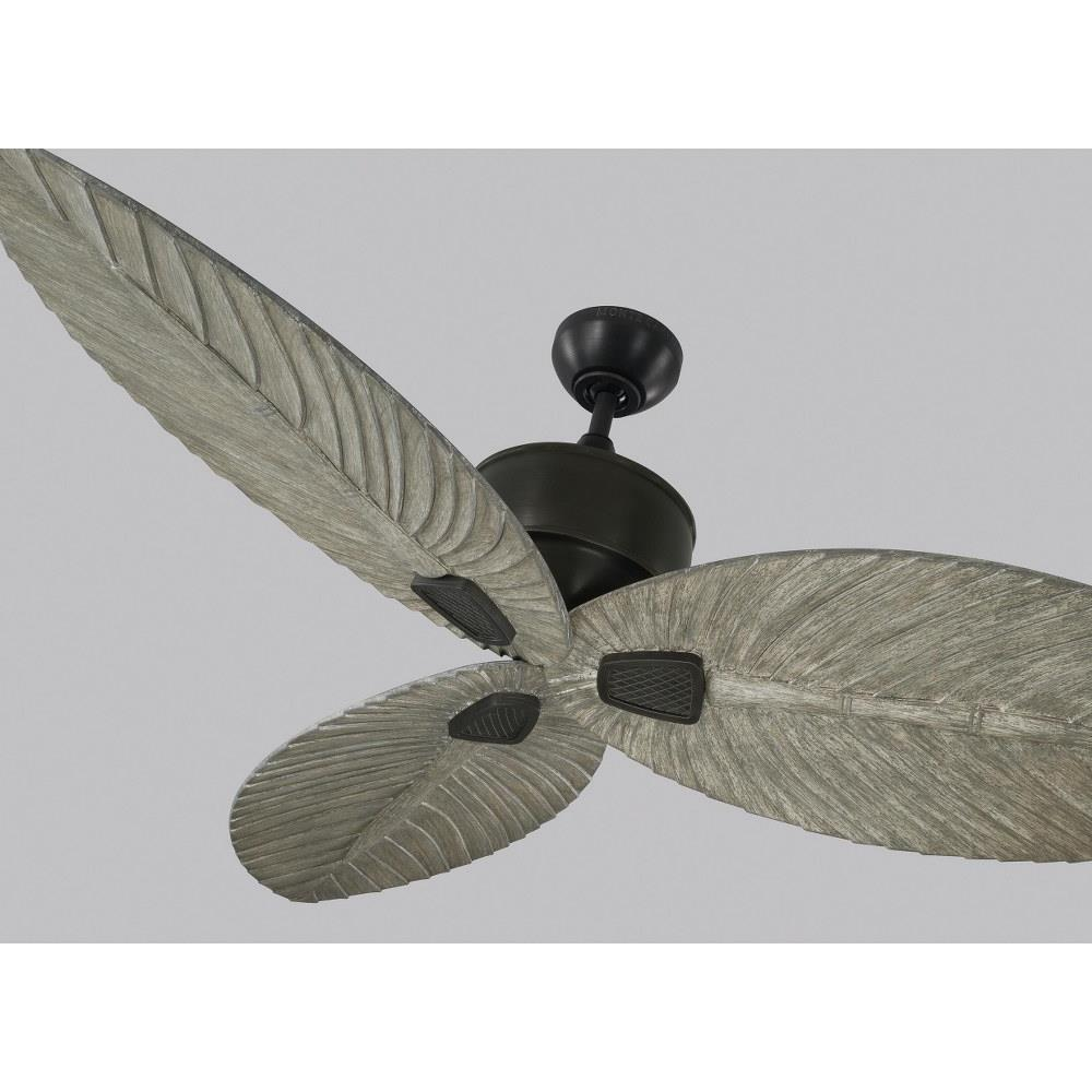 Monte Carlo Fans 3dlr56 Delray 3 Blade Outdoor Ceiling Fan With Handheld Control In Outdoor Style 56 Inches Wide By 15 8 Inches High