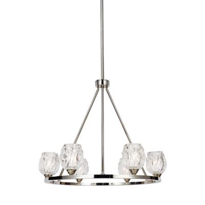Feiss F3126/6PN Rubin - Six Light Chandelier