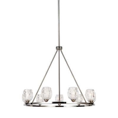 Feiss F3128/9PN Rubin - Nine Light Chandelier
