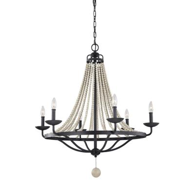 Feiss F3129/6DWZ/DWG Nori - Six Light Chandelier