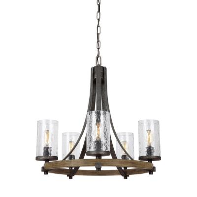 Feiss F3133/5DWK/SGM Angelo - Five Light Chandelier