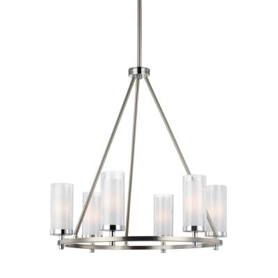 Feiss F2985/6SN/CH Jonah - Six Light Chandelier